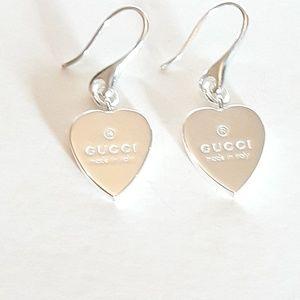 e823b4ea5 🎈Sale 🎈New Gucci trademark heart drop earrings